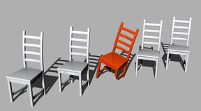 Disabled red chair Royalty Free Stock Photography