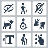 Disabled releated vector icons Stock Photo