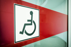 Disabled restroom sign Stock Photography