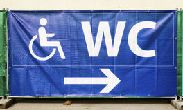 Disabled restroom sign Stock Image