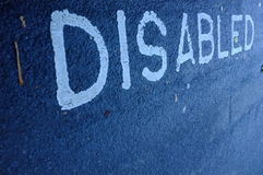 Disabled road marking. Car parking space royalty free stock image