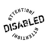 Disabled rubber stamp Royalty Free Stock Photo