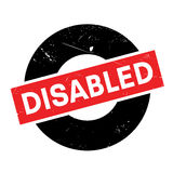 Disabled rubber stamp Royalty Free Stock Photos