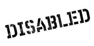 Disabled rubber stamp Stock Image