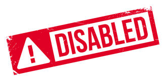 Disabled rubber stamp Royalty Free Stock Image