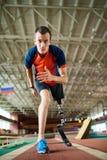 Disabled Runner on Start royalty free stock images