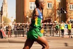 Disabled Runner. Sweating London Marathon Royalty Free Stock Image