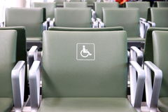 Disabled Seat. A disabled person seat at the Toronto Pearson Airport Royalty Free Stock Photography