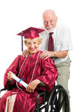 Disabled Senior Graduate and Husband Royalty Free Stock Images