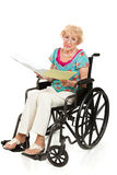 Disabled Senior - Medical Bills Stock Photos
