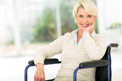 Disabled senior woman Stock Photos