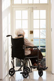 Disabled Senior Woman In Wheelchair Royalty Free Stock Photos