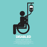 Disabled Sickness Sign. Vector Illustration Stock Photo