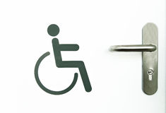 Disabled sign. Detail signal at a gate disabled Stock Photography