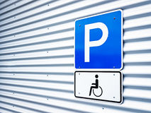 Disabled sign Stock Image