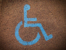 Disabled sign Stock Photo
