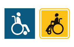 Disabled sign icon. Man in wheelchair. Handicapped invalid symbol Royalty Free Stock Photo