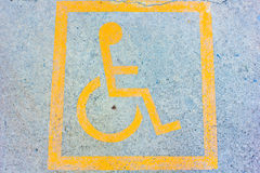 Disabled sign on parking. Disabled sign board on the parking Stock Photo