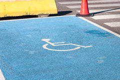 Disabled sign - road marking Stock Images