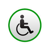 Disabled sign on white background Stock Images