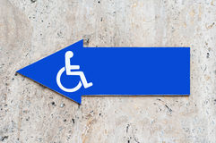 Disabled signage Royalty Free Stock Image
