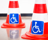 Disabled signs Stock Images