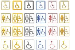 Disabled Signs. Different signs meant for showing disabled people Royalty Free Stock Photography
