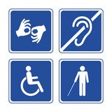 Disabled signs vector illustration