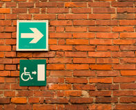 Disabled signs posted. Amsterdam Europe royalty free stock photography