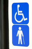 Disabled signs Stock Photography