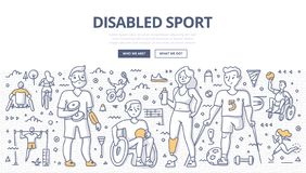 Free Disabled Sport Doodle Concept Royalty Free Stock Photos - 139110358