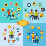 Disabled Sport Set Stock Image