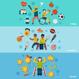 Disabled Sports Banners Stock Images