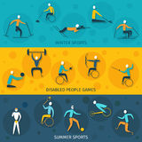 Disabled Sports Banners Royalty Free Stock Photography