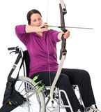 Disabled sports with bow Royalty Free Stock Image