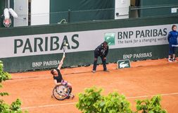 Disabled sportsman at Roland Garros Stock Images