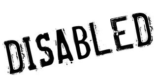 Disabled stamp rubber grunge Royalty Free Stock Images