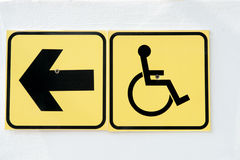 The disabled street on left sign Royalty Free Stock Image