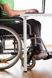 Disabled student during class Stock Photo