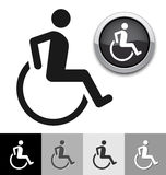 Disabled symbol. For your design Stock Image