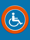 Disabled symbol Royalty Free Stock Photography