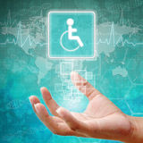 Disabled Symbol om hand Royalty Free Stock Images