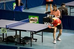 Disabled table tennis player Royalty Free Stock Photo