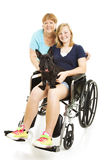 Disabled Teen with Mom Royalty Free Stock Images