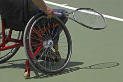 Disabled Tennis. Player in wheelchair Royalty Free Stock Photography