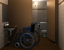Disabled toilet Royalty Free Stock Photography