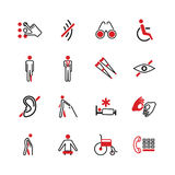 Disabled vector icons Stock Photos
