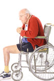 Disabled veteran man in wheelchair Royalty Free Stock Image