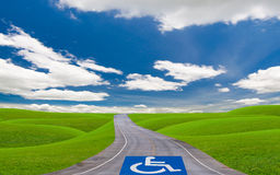 Disabled way Royalty Free Stock Photo