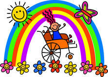 Disabled Wheelchair Girl Stock Images